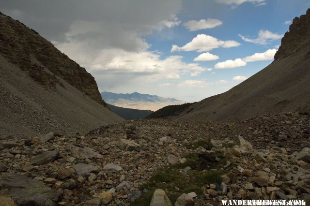 View East From Wheeler Peaks Rock Glacier