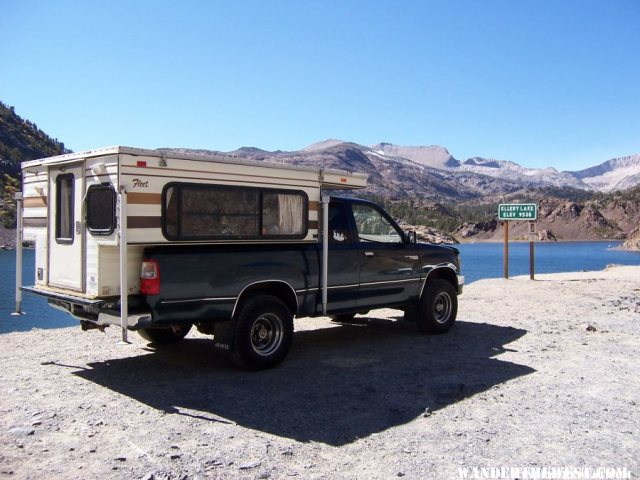 FWC at lake on Tioga Pass Rd.