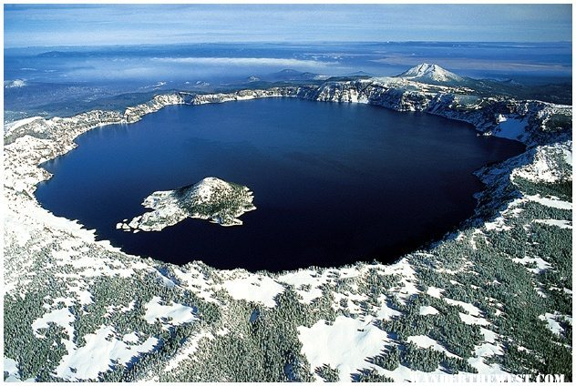 Aerial View - Crater Lake