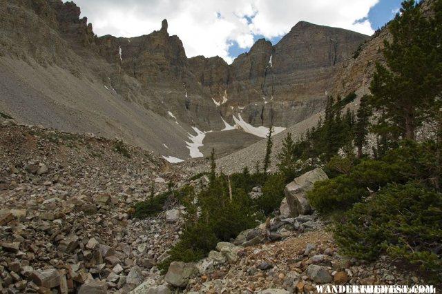View Into Wheeler Peak Cirque