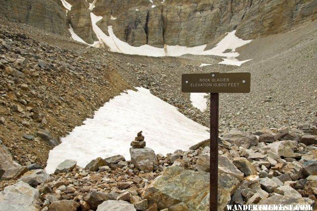 The Rock Glacier in Wheeler Peak Cirque