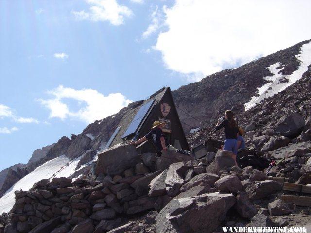 The climbing ranger shack