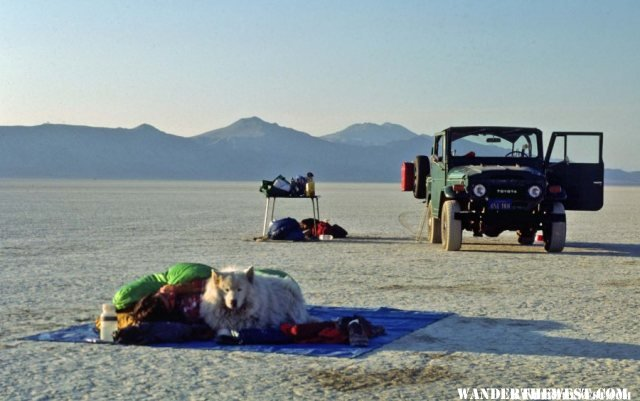 Camping on the Black Rock playa west of the Hot Springs
