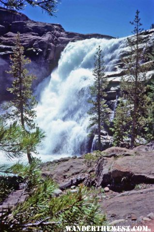Water Wheel Falls is a good day hike in Tuolumne