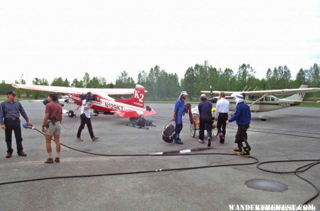 Busy Talkeetna Airport