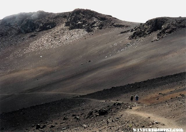 Hiking along Mount Haleakala