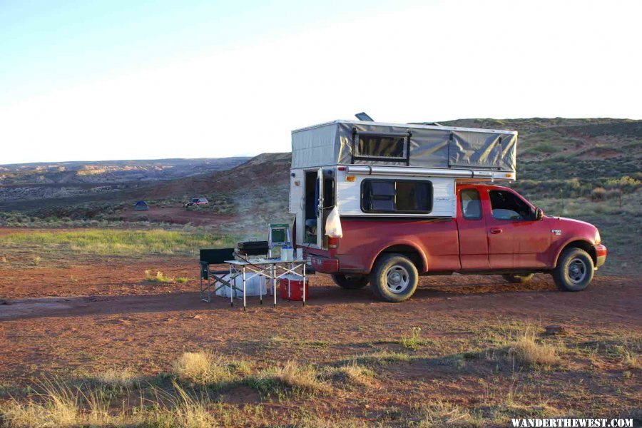 Grilling Burgers at Horseshoe Canyon Camp