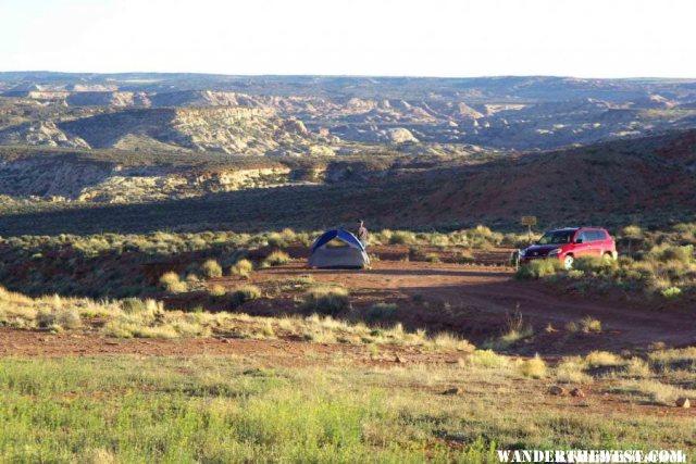 BLM Camping Area at Horseshoe Canyon