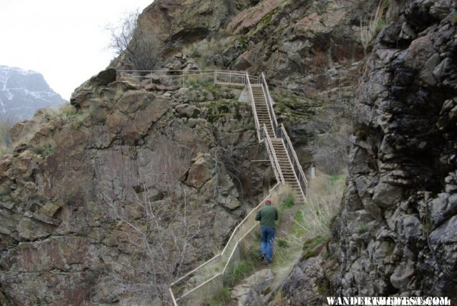 Hells Canyon Dam Stairs