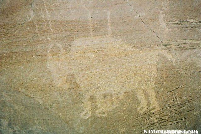 Nine Mile Canyon Petroglyph - Ute Buffalo