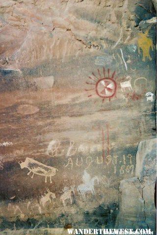 Nine Mile Canyon Petroglyph - Pregnant Buffalo