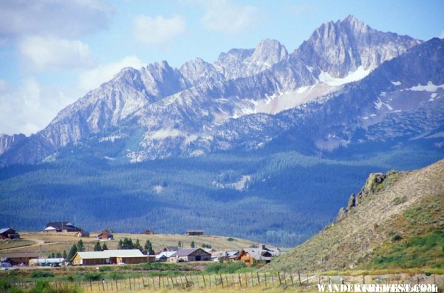Sawtooth Mountains from Stanley, ID.