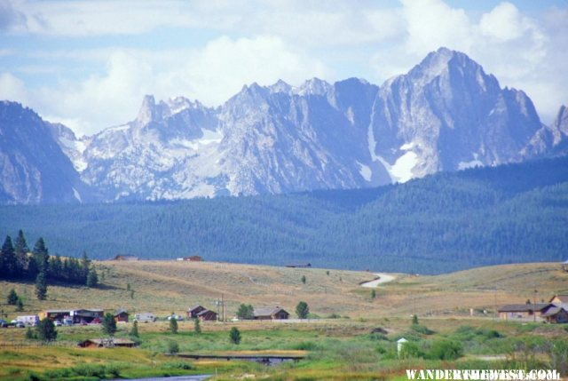 The Sawtooth Mountains from Stanley Basin