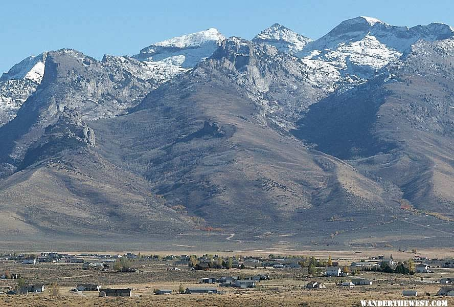 Spring Creek with Ruby Mountains in the background