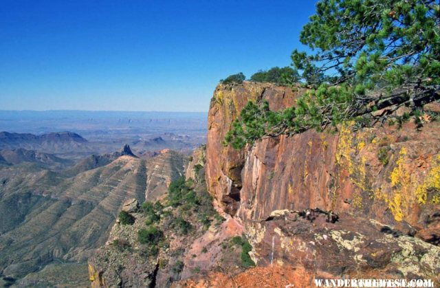 View from Big Bend's Chisos Mountains