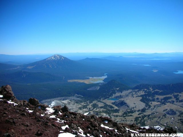 View of Mt. Bachelor from South Sister summit