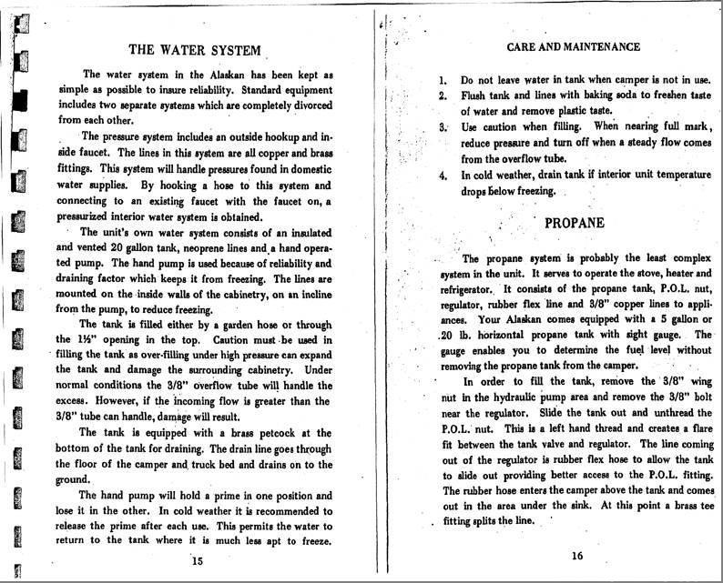 1969 Alaskan Camper Owners Manual - Alaskan Camper ... on