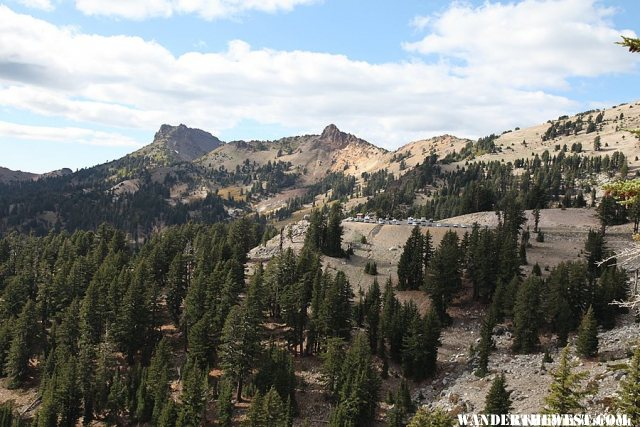 Looking back at the parking lot - Bumpass Hell Trail