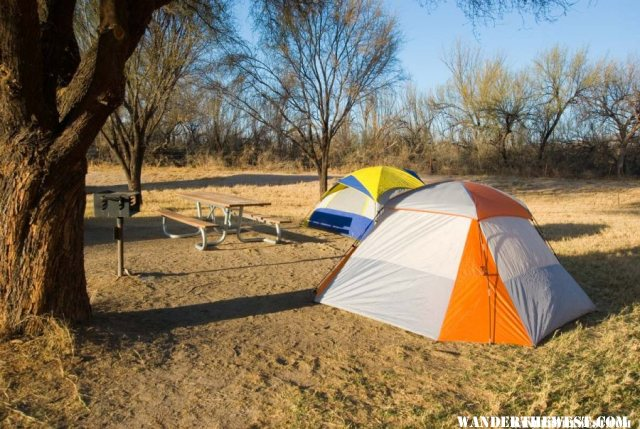 Cottonwood Campground on the Rio Grande