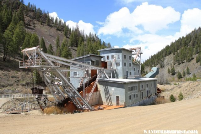 The old gold dredge just outside town