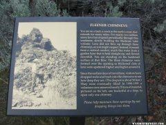 The interpretive sign at Fleener Chimneys