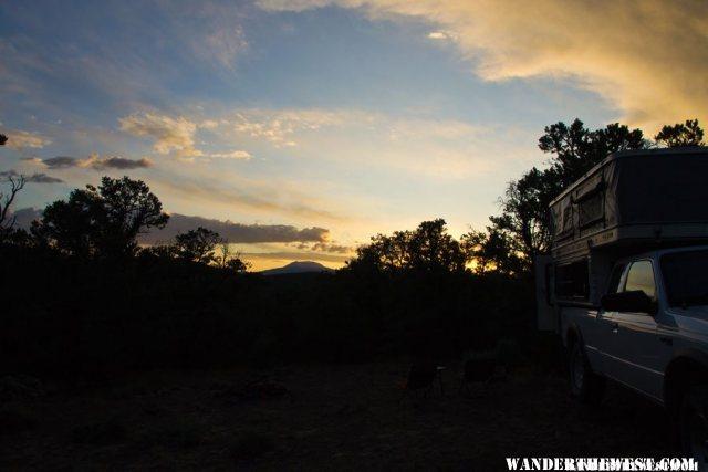 Sunset at Toquima Campground