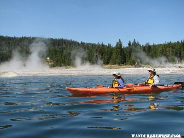 Kayaking on Yellowstone Lake