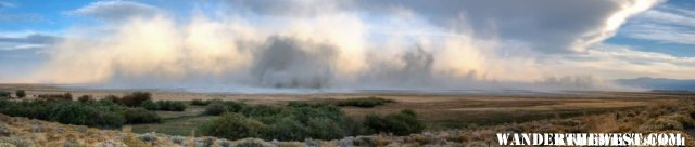 Summer Lake Duststorm (Oct-28-2011)
