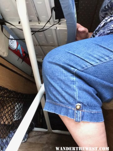 ironing board knee room
