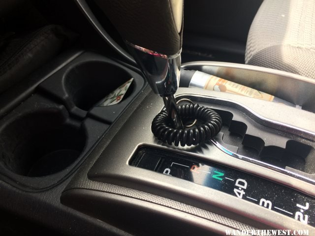 Spiral on gear shift