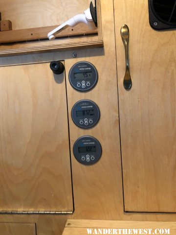 Power readings with fridge running