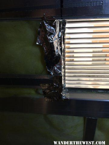 inside - edge of new fan vent