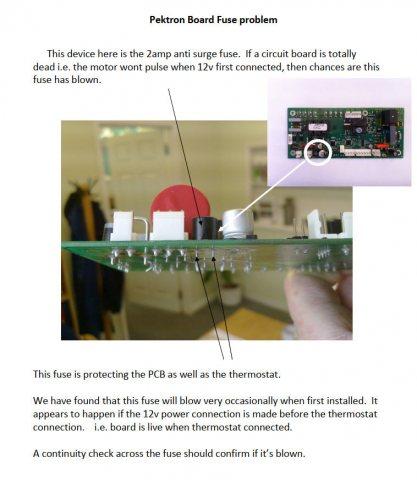 Propex   Pektron Board Fuse problem