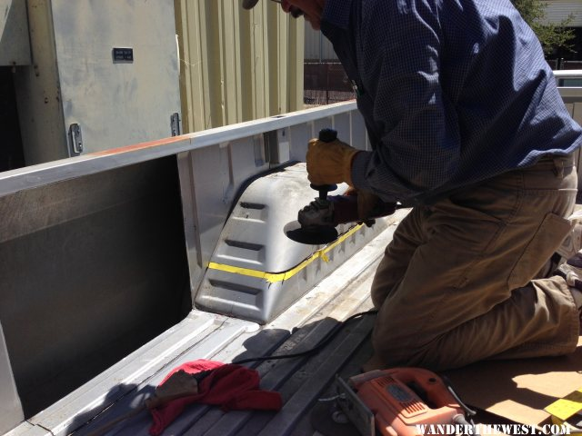Cutting Out the Interior Cargo Bed Panels