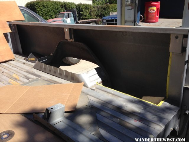Interior Cargo Bed Panels Cut Out