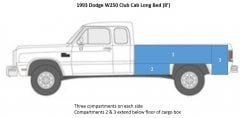 1993 Dodge W250 Club Cab Long Bed   side view