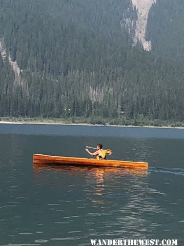 Elsie And Canoe At K lakes