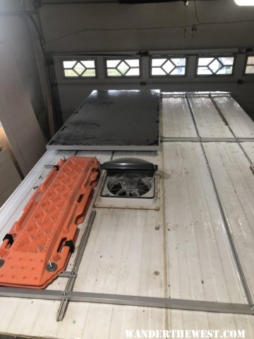 Solar panel mounted