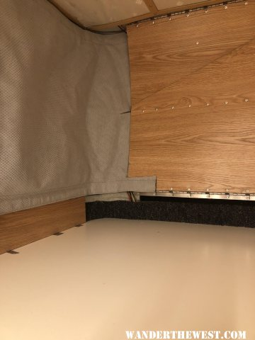 solar wiring at front of bed area