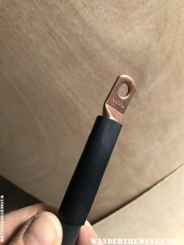 slide the heat shrink in place