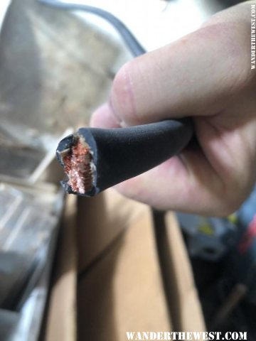 1 AWG fine stranded welding cable