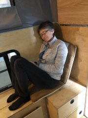 Chairs can be moved easily and used for... napping!