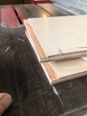 Cut to depth with table saw