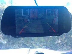 Pyle PLCM7200 Backup Camera - Monitor  Clips over rear view Mirror