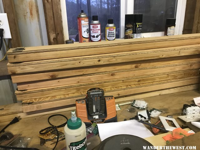 2x4 with 1/2 inch plywood cap/truck bed camper support
