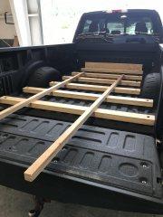 Truck bed support for Alaska Camper