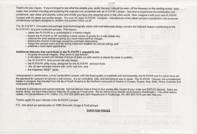 Retail Price List 1998 2