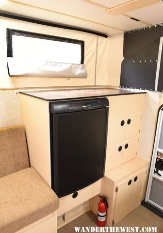 Fridge & Cabinets