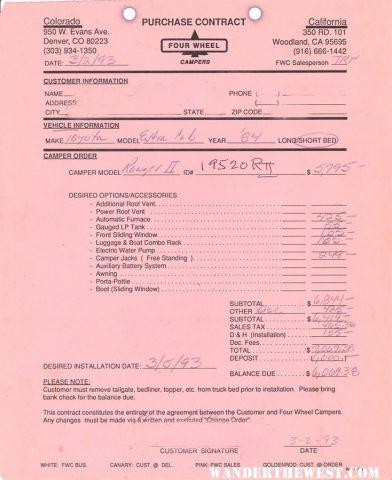 Original FWC Invoice