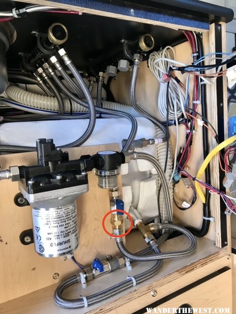 Hot Water Heater Check Valve Location (Newer Hawk and Raven)